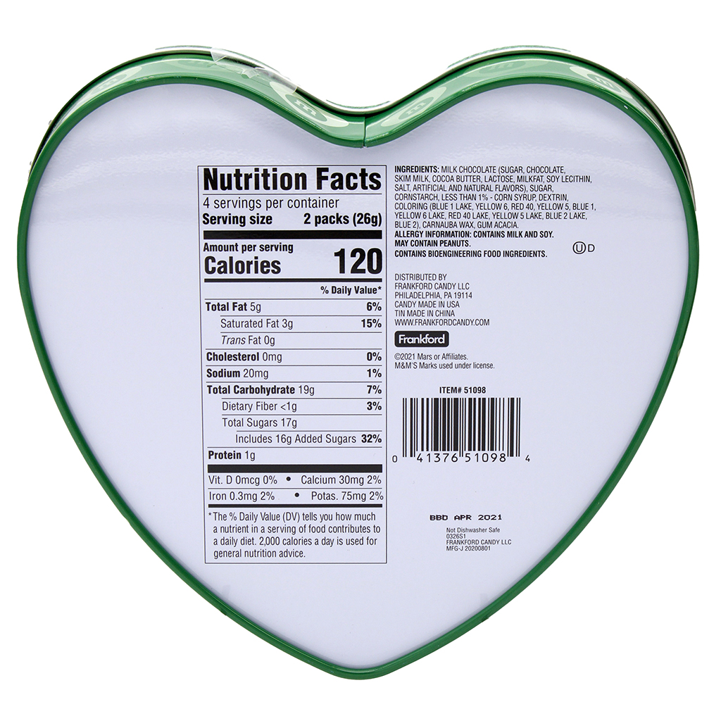 M&M'S® Tin Heart, Green