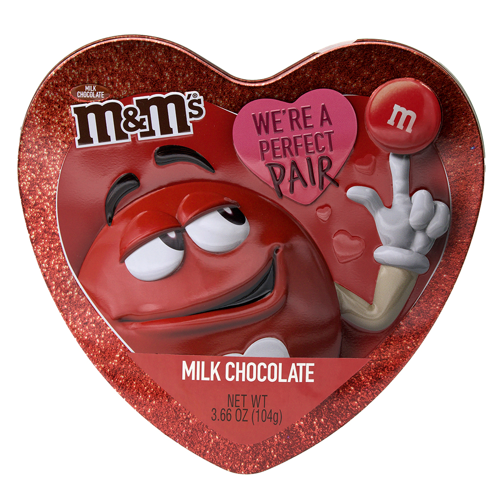 M&M'S® Tin Heart, Red