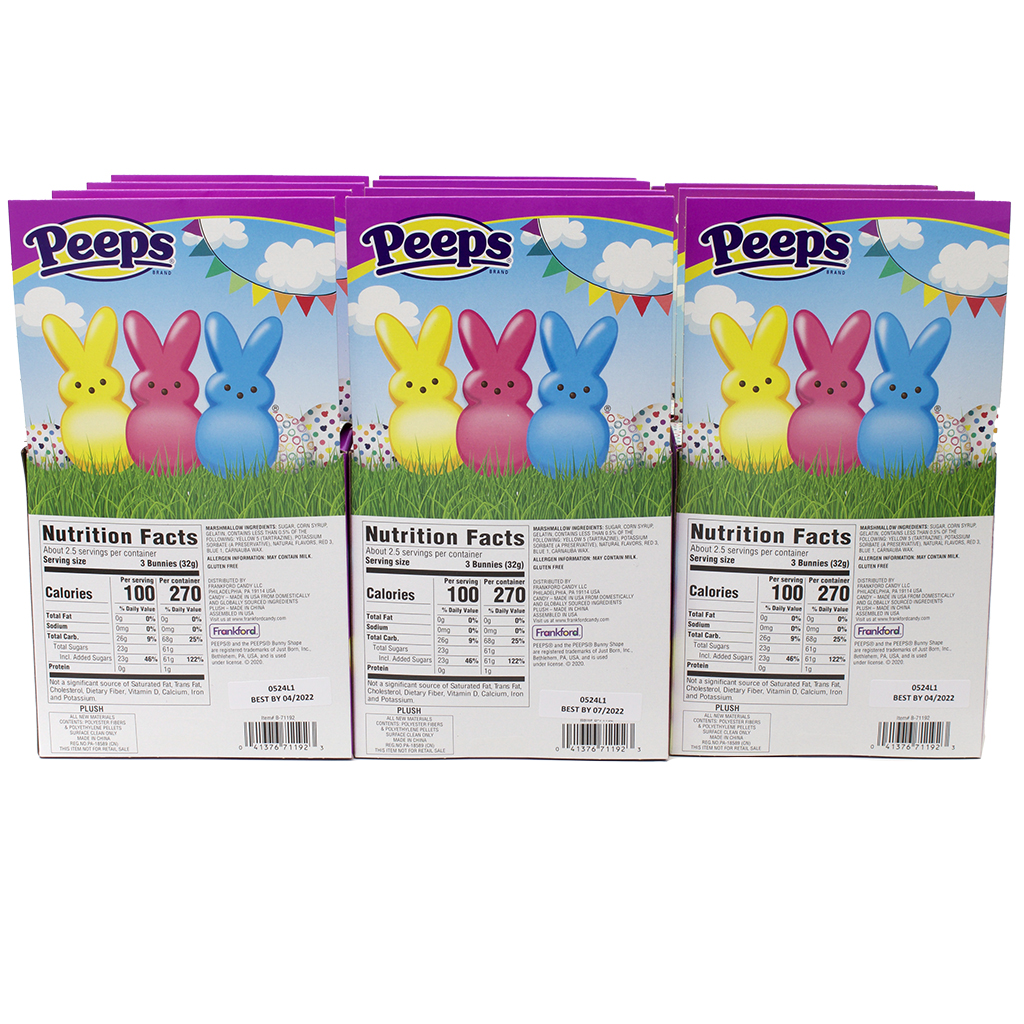PEEPS® Bunny Plush Gift Set, Assorted, 12 pack