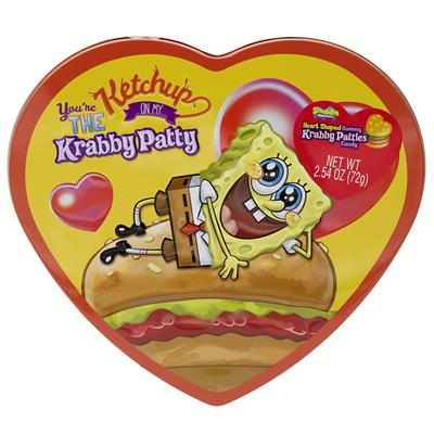 Krabby Patties Tin Heart