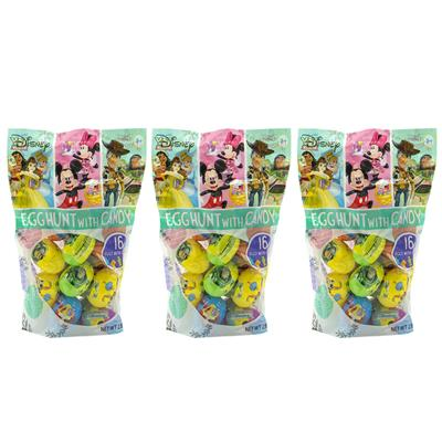 Disney Character Plastic Egg Multipack, 3 pack, 16 ct eggs